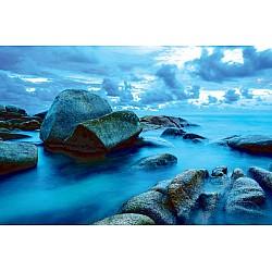 Wallpaper Mural Sea Waves Lash Line Impact Rocks  (21534100)