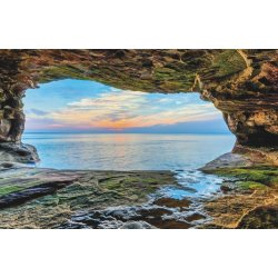 Wall mural sunset over lake superior