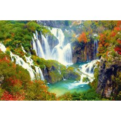 Wall mural the waterfalls of Plitvice national park in Croatia
