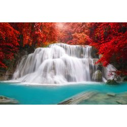 Wallpaper Mural Waterfall In Deep Forest