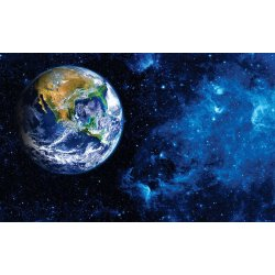 Photo wall mural view of the earth from the moon.