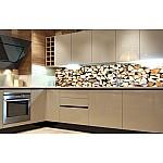 Kitchen Splashback Timber Logs