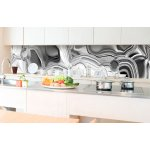 Kitchen Splashback Liquid Chrome Silver