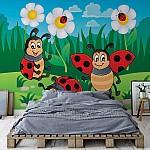 Cartoon Ladybirds Photo Wallpaper Mural (11410VE)