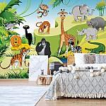 Cartoon Animals Photo Wallpaper Mural (11411VE)