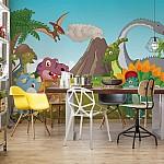 Cartoon Dinosaurs Photo Wallpaper Mural (11414VE)