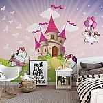 Unicorn Castle Photo Wallpaper Mural (11607VE)