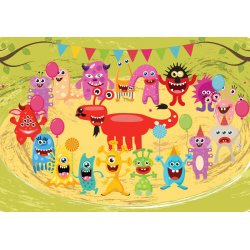 Monsters Party Photo Wallpaper Mural (11340VE)