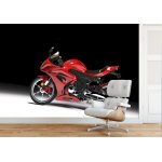 Wallpaper Mural Red Sports Motorcycle (1089)