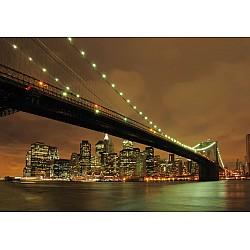 Wallpaper Mural Brooklyn Bridge by Night (458)