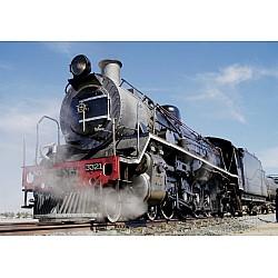 Wallpaper Mural Vintage steam train (857)