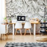 Vintage 3D Carved Flowers White Photo Wallpaper Mural (10052VE)