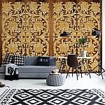 3D Vintage Pattern Wood Photo Wallpaper Mural (10066VE)
