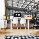 Modern 3D Silver Spheres Architecture View Photo Wallpaper Mural (10132VE)