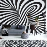 3D Black And White Twister Photo Wallpaper Mural (10204VE)