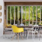 3D Window View Forest Photo Wallpaper Mural (10650VE)