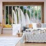 3D Window View Waterfall Photo Wallpaper Mural (10662VE)