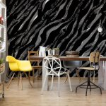3D Abstract Black Texture Photo Wallpaper Mural (1428VE)