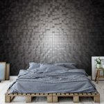 3D Black And White Modern Pixel Design Photo Wallpaper Mural (1646VE)