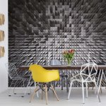 Black And White Modern 3D Pixel Design Photo Wallpaper Mural (1784VE)