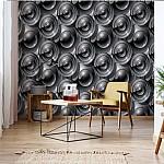 Modern Disc Pattern Photo Wallpaper Mural (2499VE)