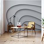 3D Layers Monochrome Photo Wallpaper Mural (2610VE)