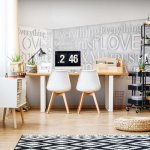 Modern 3D Romantic Words Photo Wallpaper Mural (2650VE)