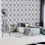 3D Abstract Pattern Grey And White Photo Wallpaper Mural (2874VE)
