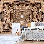 3D Stone Tunnel Photo Wallpaper Mural (2907VE)