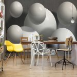 3D Abstract Design Balls Illusion Photo Wallpaper Mural (2942VE)
