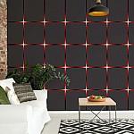 Modern Square Design Red Lights Photo Wallpaper Mural (2960VE)