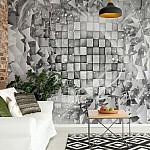 Abstract 3D Design Grey Photo Wallpaper Mural (3028VE)