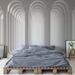 3D Columns Optical Illusion Photo Wallpaper Mural (3047VE)