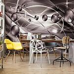 3D Modern Ornamental Design Purple Photo Wallpaper Mural (3269VE)