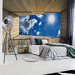Sky 3D Modern Window View Photo Wallpaper Mural (3292VE)