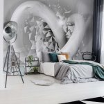 3D Structure Splinters White And Grey Photo Wallpaper Mural (3374VE)