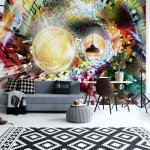 3D Puzzle Tunnel Multicoloured Spheres Photo Wallpaper Mural (3407VE)
