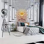 Flower 3D Bubbles Photo Wallpaper Mural (3557VE)
