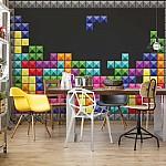 Tetris Photo Wallpaper Mural (3742VE)