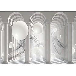 3D Columns Optical Illusion Photo Wallpaper Mural (3049VE)