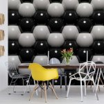 3D Grey And Black Ball Pattern Photo Wallpaper Mural (502VE)