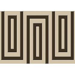 Brown And Beige Geometric Pattern Photo Wallpaper Mural (862VE)