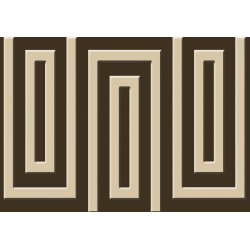 Brown And Beige Geometric Pattern Photo Wallpaper Mural (863VE)