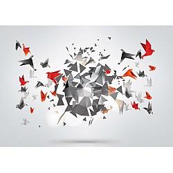 Modern 3D Design Polygon Birds Photo Wallpaper Mural (2162VE)