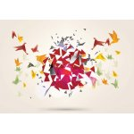 Modern 3D Design Polygon Birds Photo Wallpaper Mural (2163VE)
