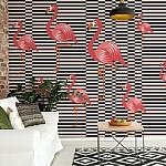 Modern Flamingo Pattern Wallpaper Mural (11143VE)