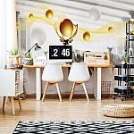 Deer Spheres Abstract Design Wallpaper Mural (3126VE)