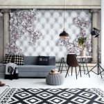 Luxury-Flowers-Roman-Columns-Photo-Wallpaper-Mural-(10038VE)