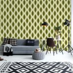 Modern-Pattern-Yellow-Photo-Wallpaper-Mural-(11136VE)