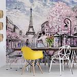 Paris-Street-Art-Painting-Photo-Wallpaper-Mural-(11470VE)